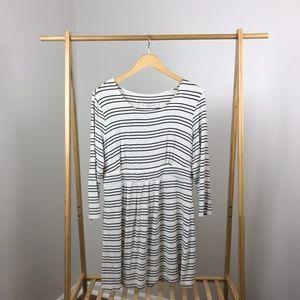 Soma • Lounge Striped Long Sleeve Dress Size Large